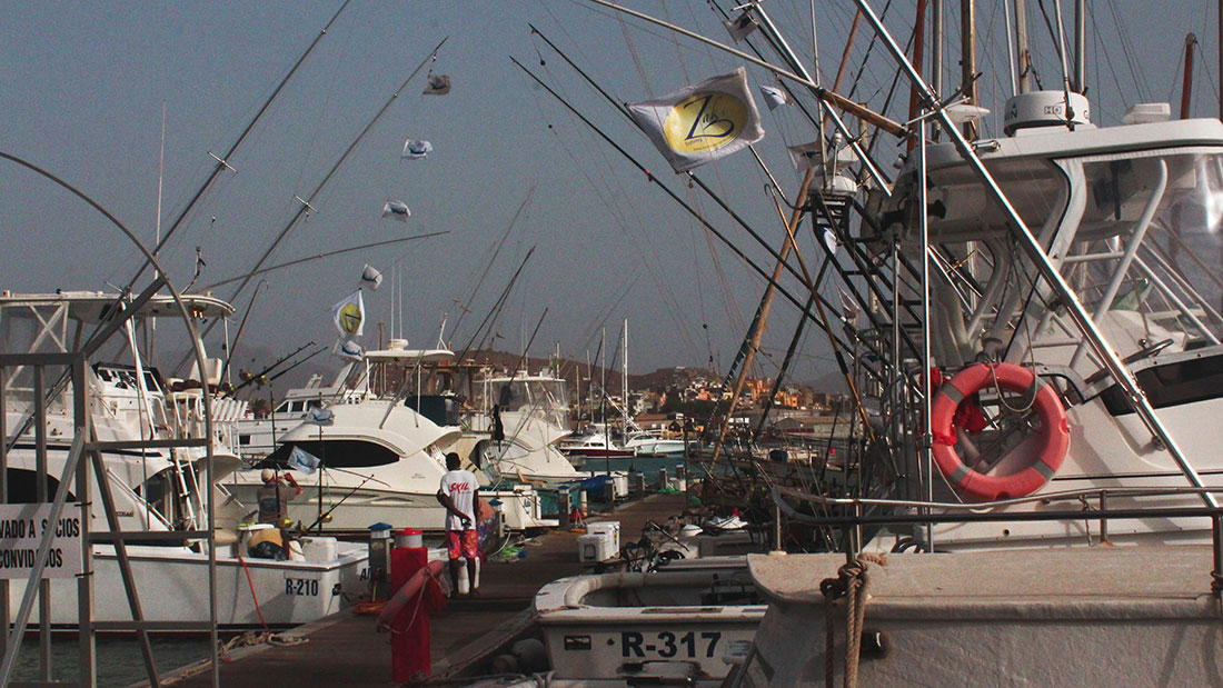 Mindelo Harbor, boats for Deep Sea Fishing