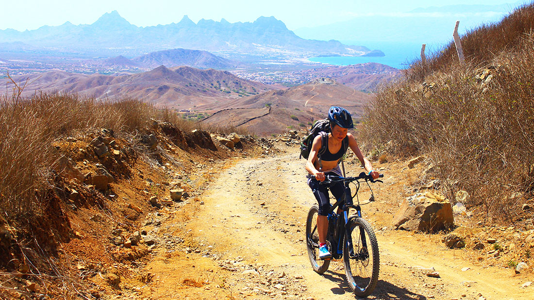 MTB Going up at Matos Ingles Cabo Verde