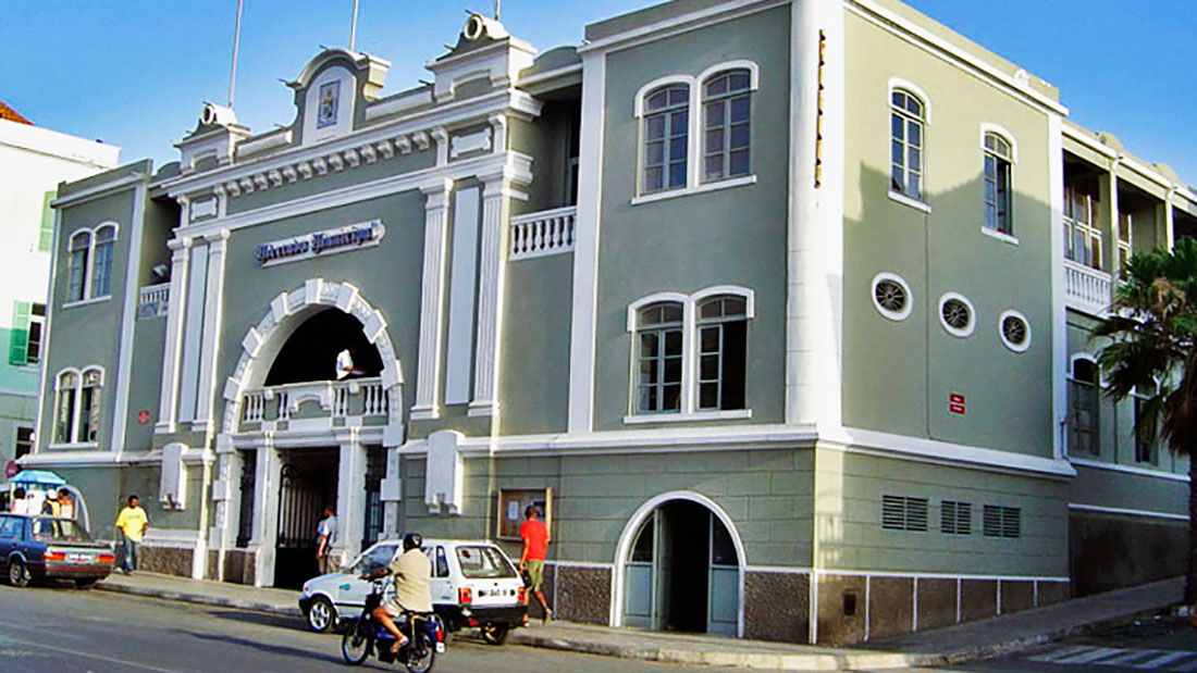 The vegetable market - typical colonial building