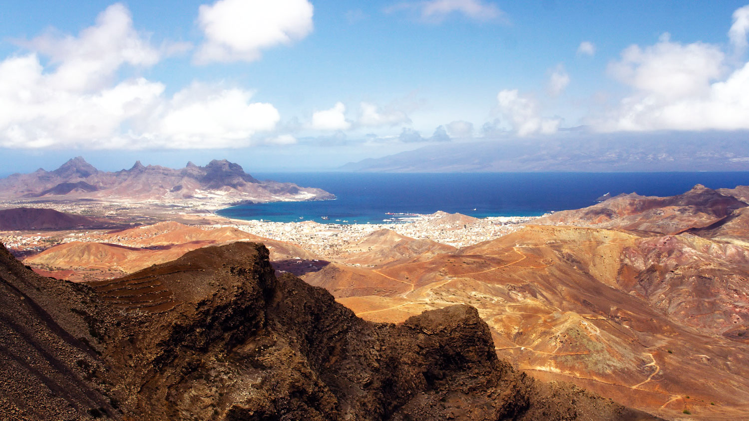 View of Mindelo, Cabo Verde from Monte Verde