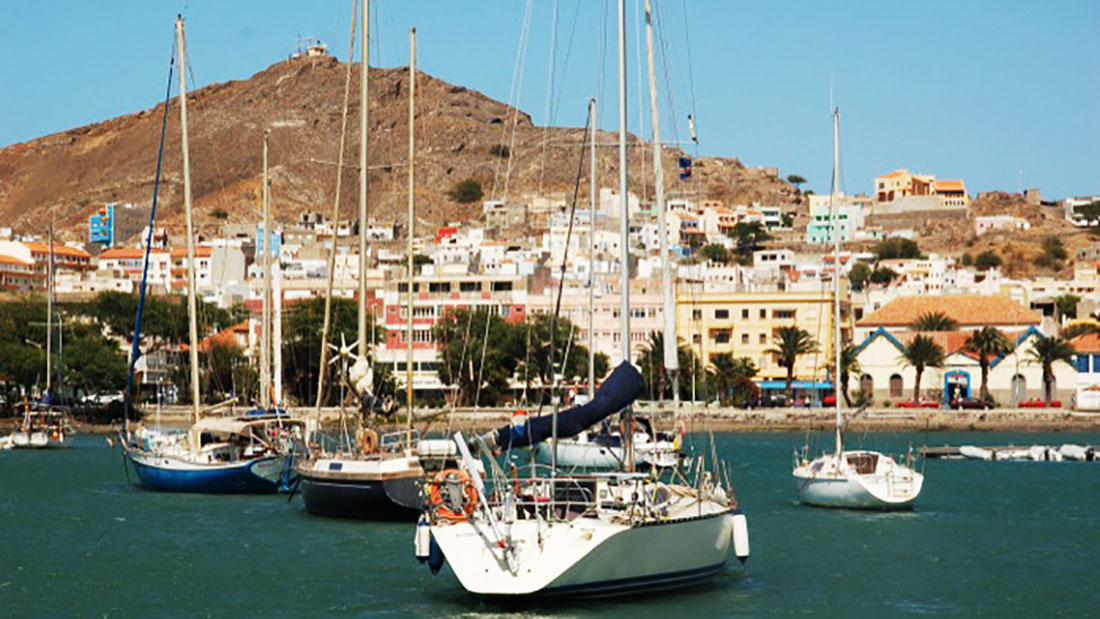 Mindelo is THE harbor of Cabo Verde with many sailing boats
