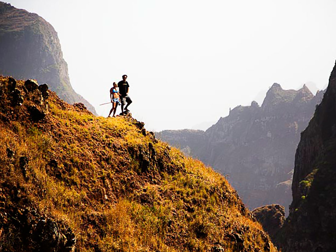 World class hiking in Cabo Verde can be found in Santo Antao