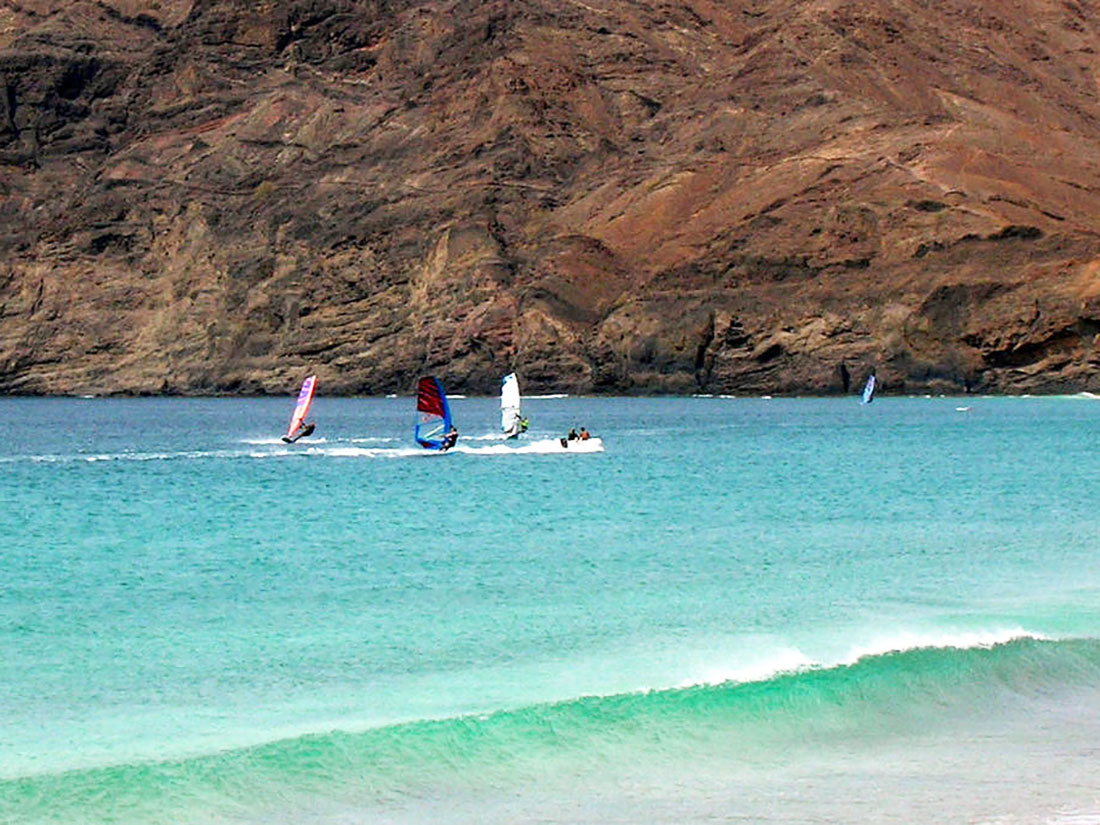 Windsurfing in Sao Vicente