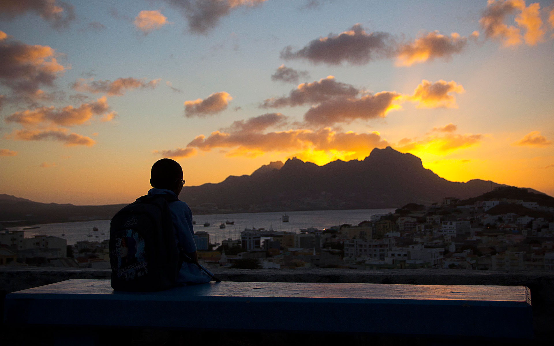 VIEW OVER MINDELO