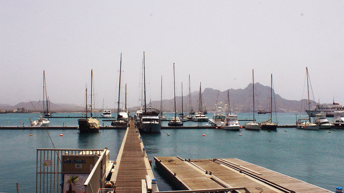 May: Plenty of mooring space in Cabo Verde's busiest yachting marina