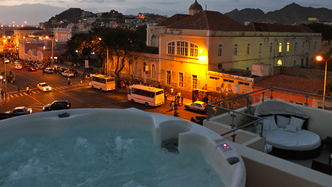Jacuzzi with view at St. Aubym, Mindelo Cabo Verde