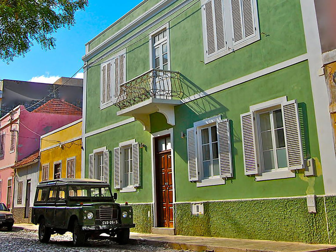 Accommodation in Mindelo Cabo Verde colonial style